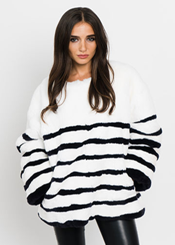 Rabbit Striped Pullover