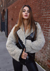 Patent Leather Faux Fur Jacket