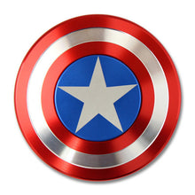 Fidget Spinner Finger Spinner Toy Metal  Marvel Captain America CA Tri Hand Spinner TMop Puzzle Rotate Star Gift for birthday - Tagerts