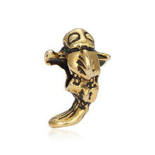 Charm Silver Plated Hollow Gold Flower for Pandora Bracelet