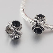 free shipping 1pc big hole charm Bead with big rhinestone  Fits European Pandora Charm Bracelets & Necklaces A116 - Tagerts