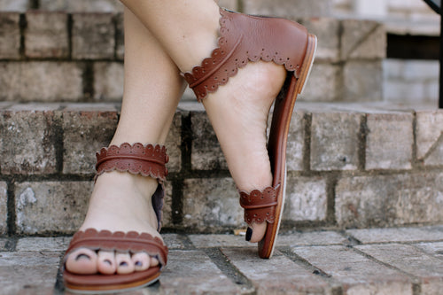 Saddle Brown Midsummer Sandal