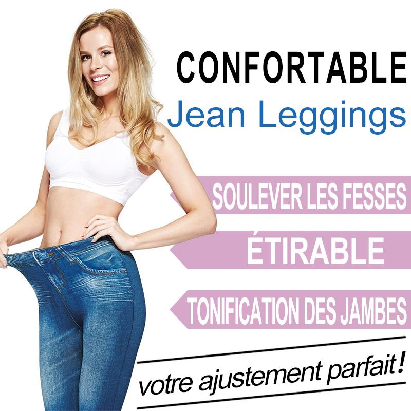UnikGadgets Pantalon Slim Imitation Jean Skinny Jeggings
