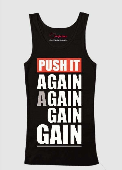 Push Again Again Tank Tops