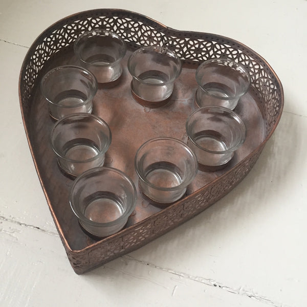 Metal Heart Candle display