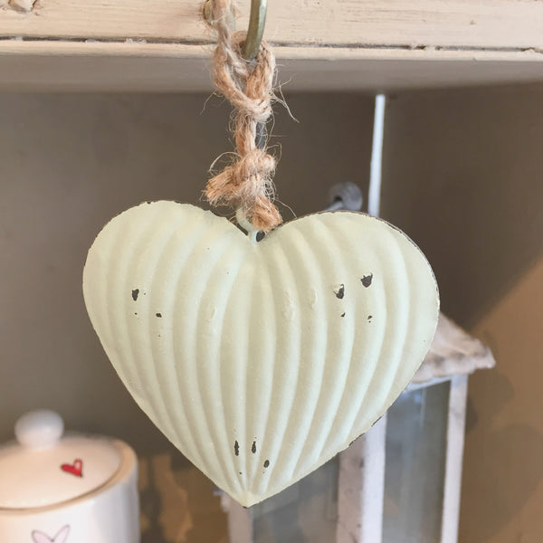 Metal Hanging Hearts - Dales Country Interiors