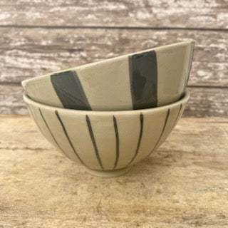 Small grey ceramic bowls