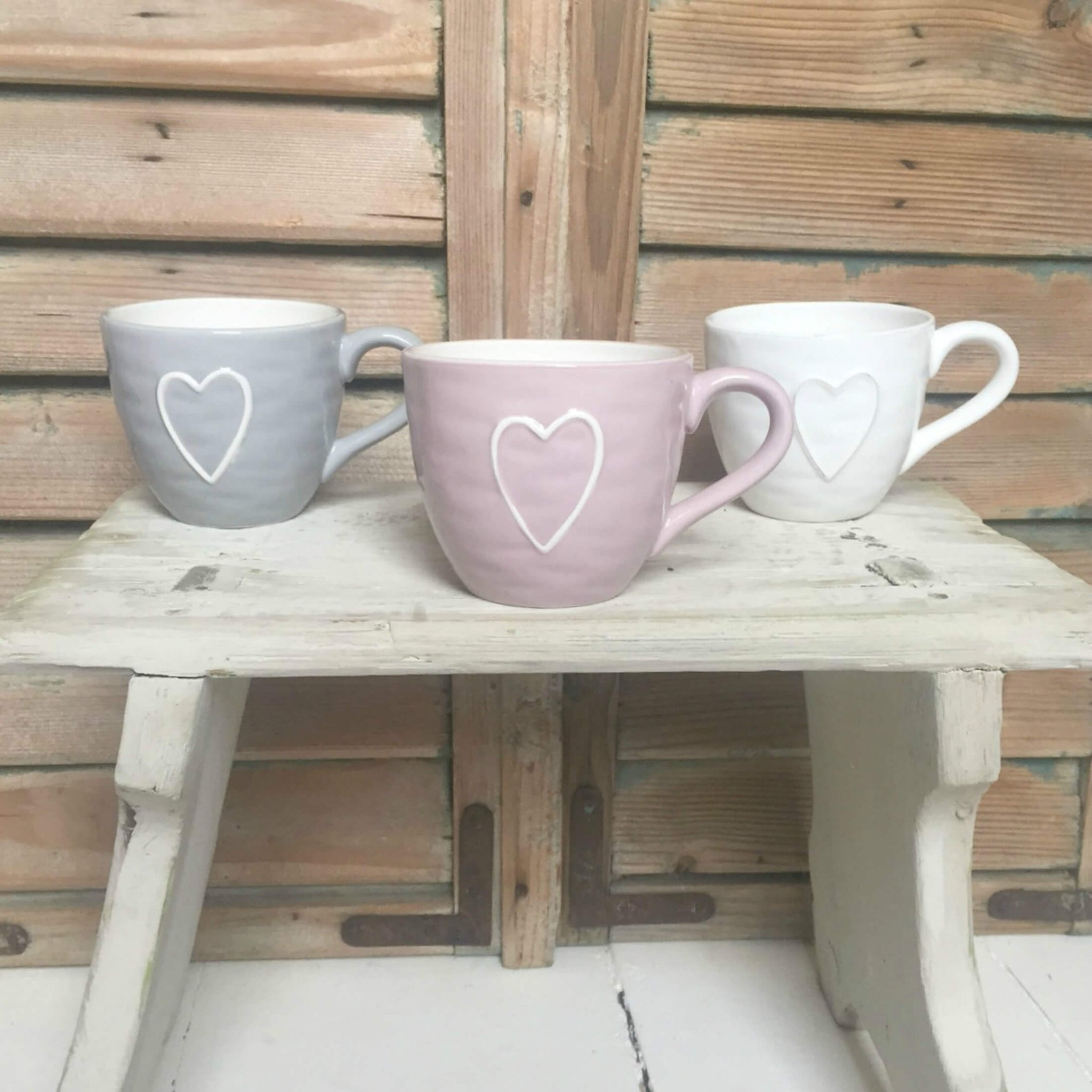 Heart Mugs - Dales Country Interiors