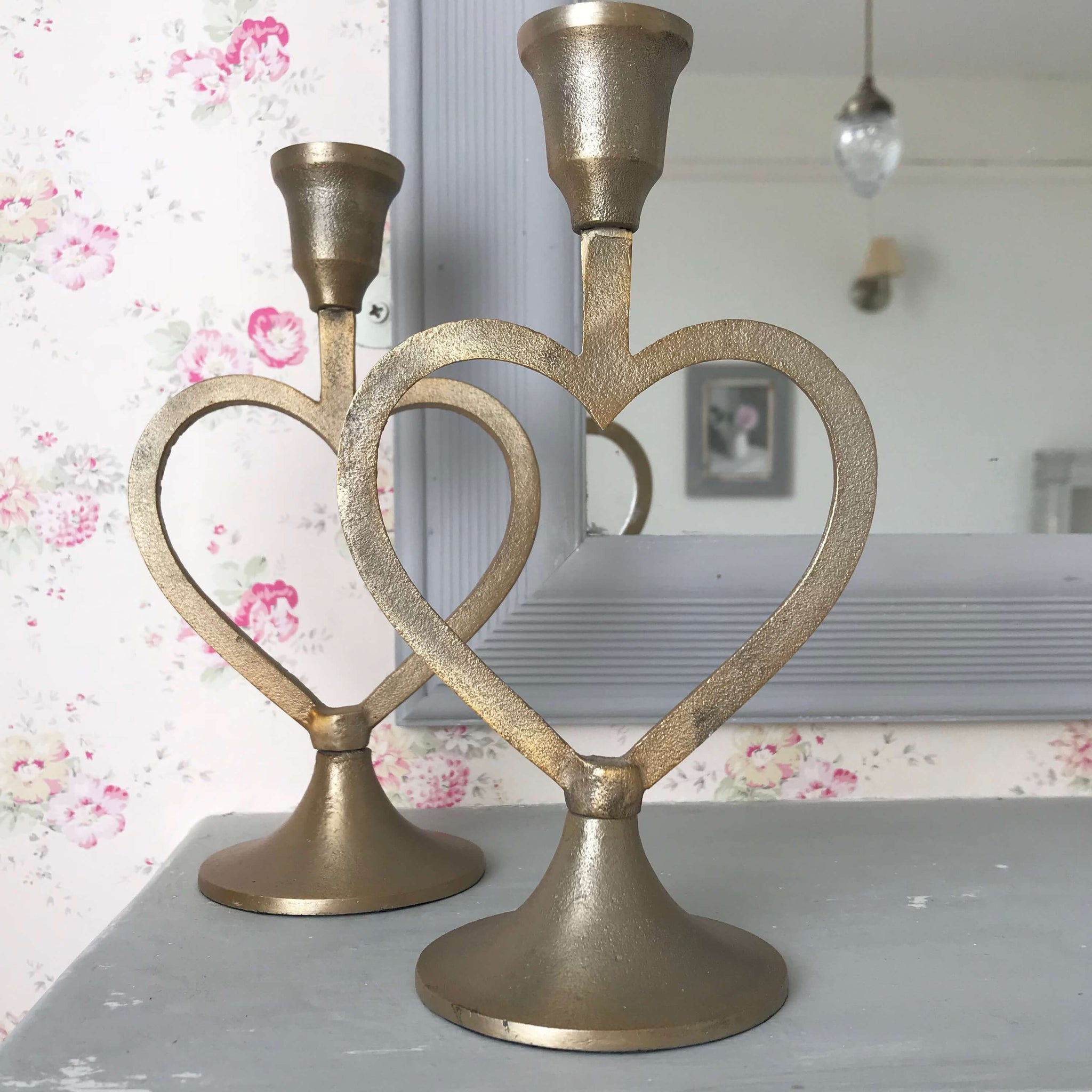 Heart Candle Stick - Dales Country Interiors