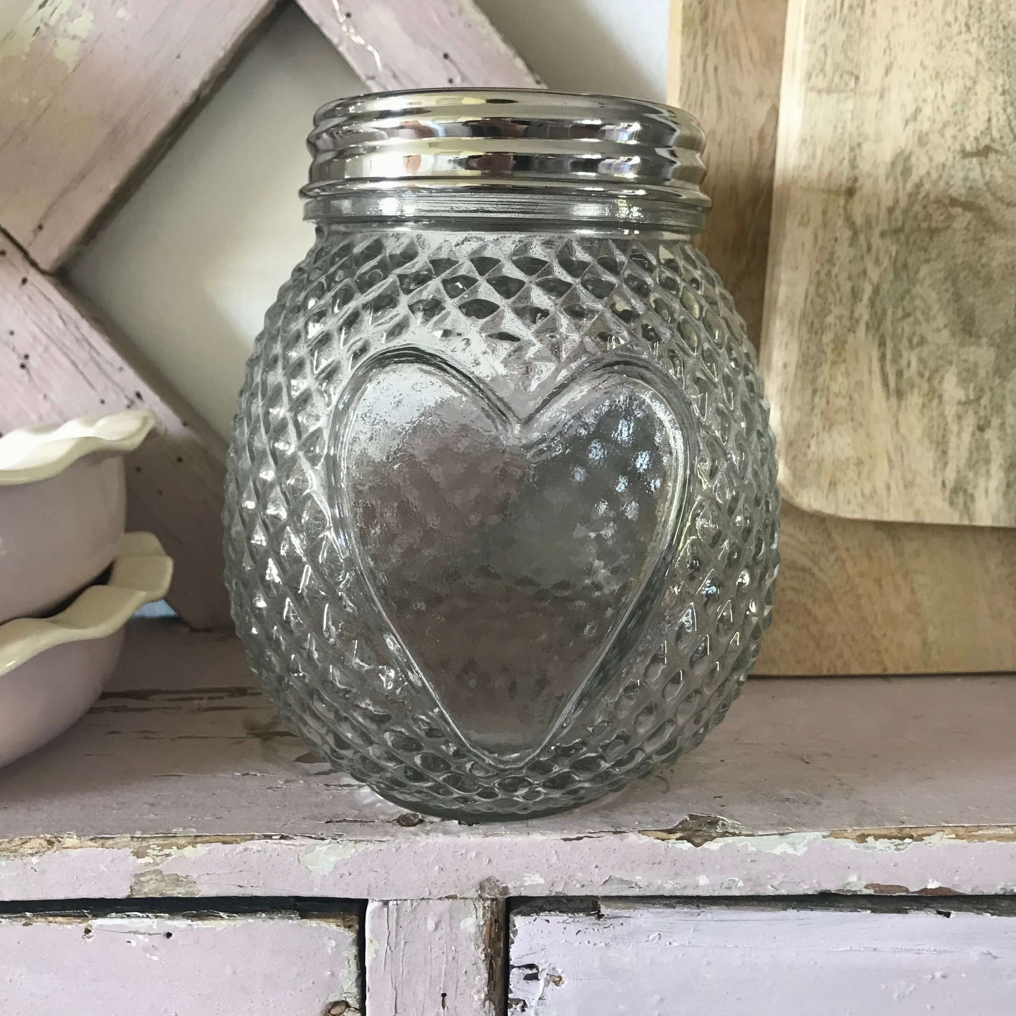 Heart Storage Jar - Dales Country Interiors