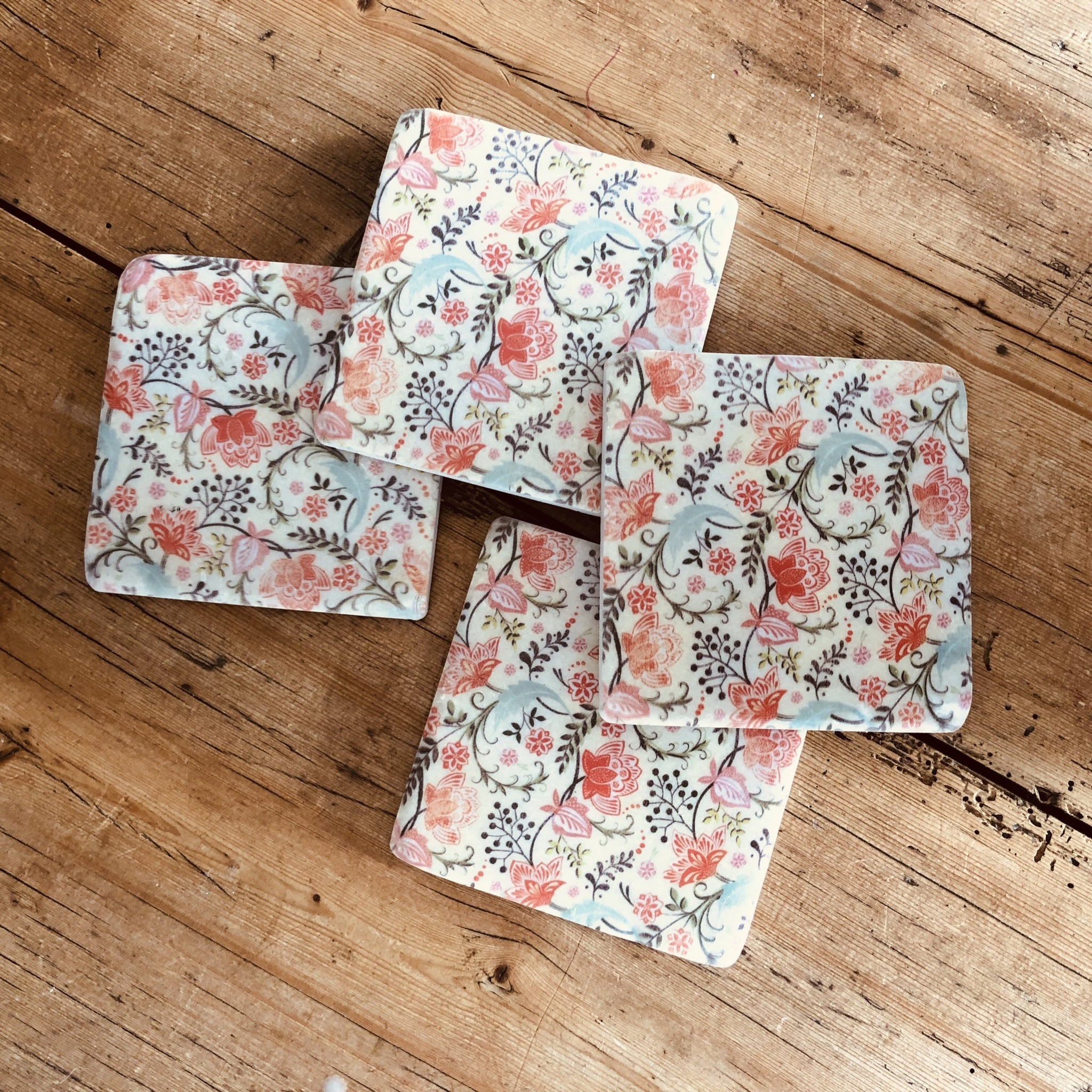 Floral coasters - Dales Country Interiors