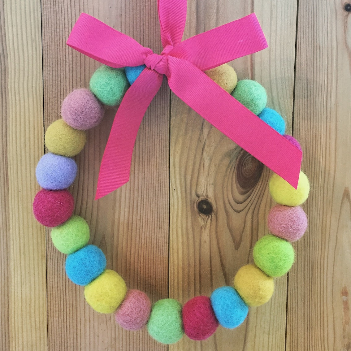 Felt Ball Wreath - Dales Country Interiors