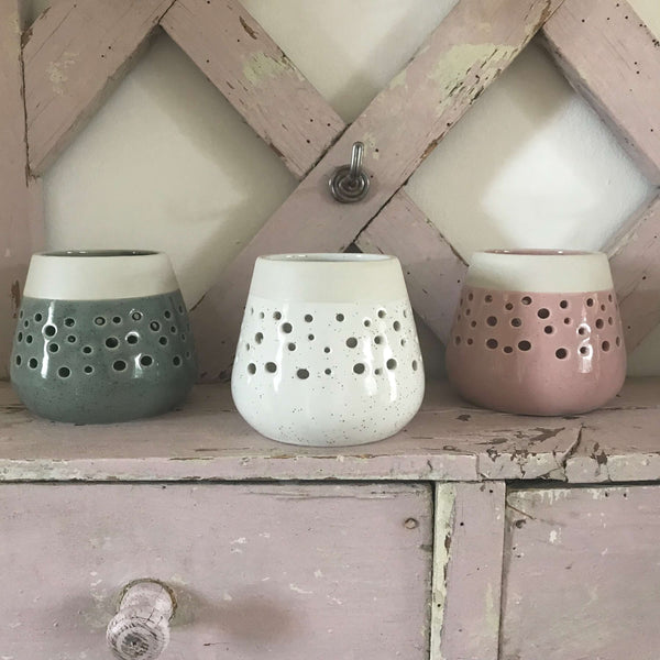 Speckled Ceramic Tealight Holders - Dales Country Interiors