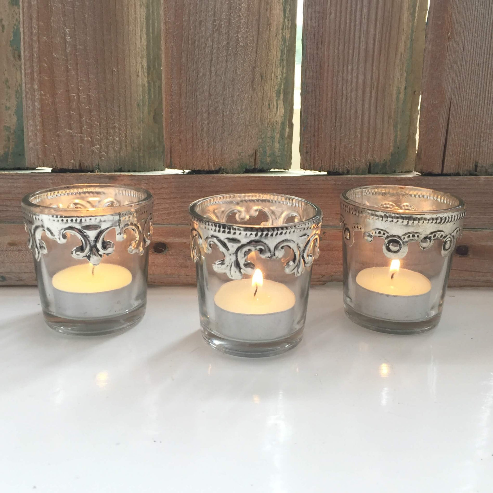 Scallop edge tealight holder - Dales Country Interiors