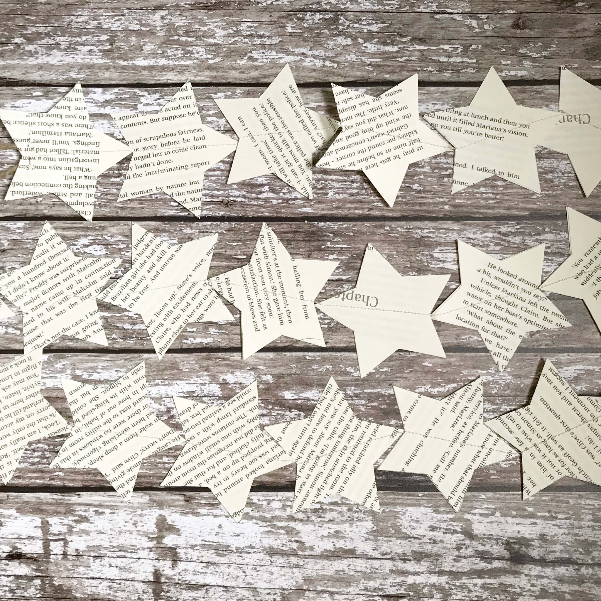Paper Star Garlands - Dales Country Interiors