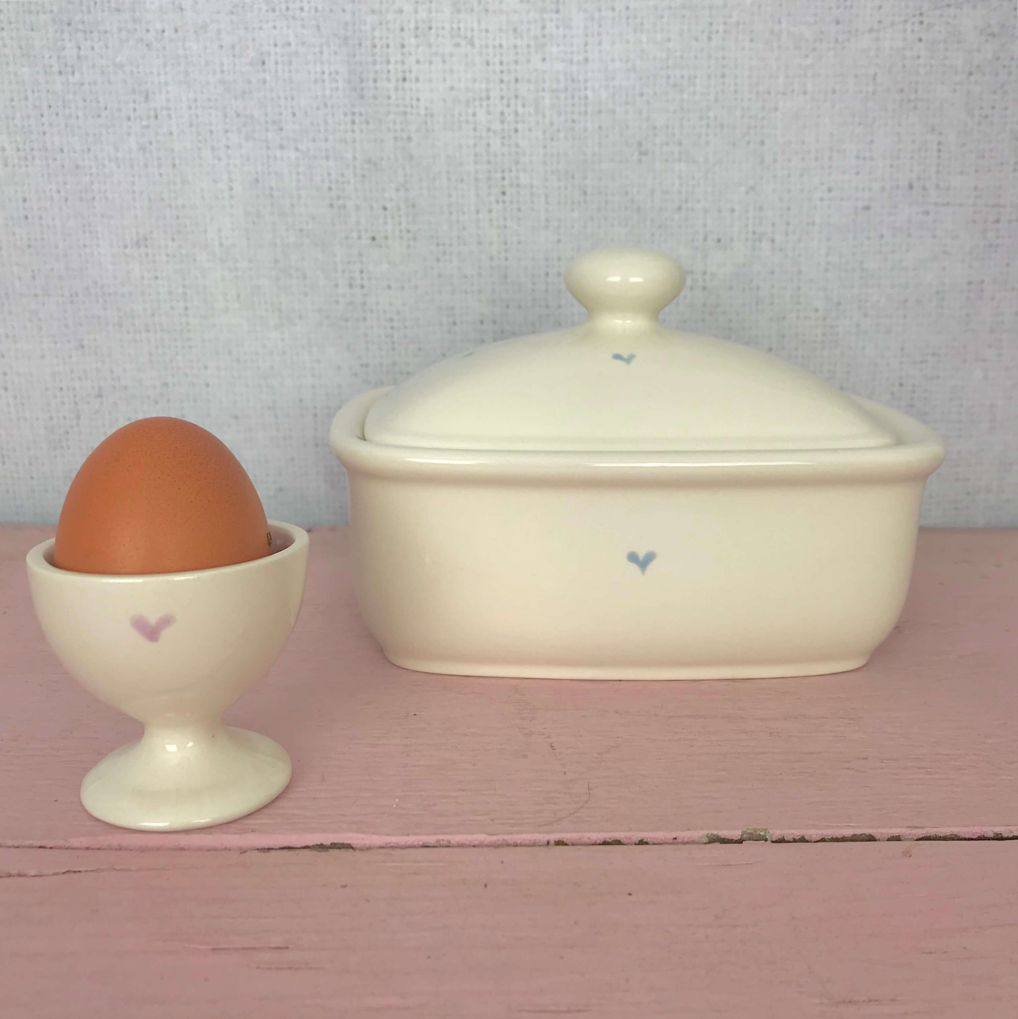 Pastel Heart Egg Cup - Dales Country Interiors