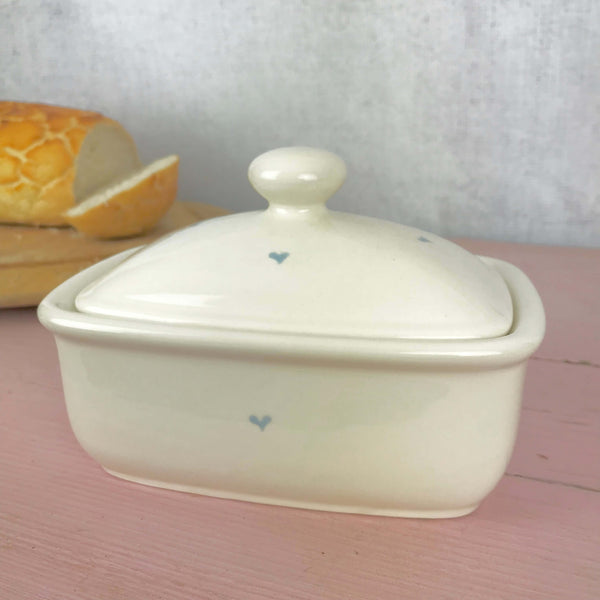Pastel Heart Butter Dish - Dales Country Interiors