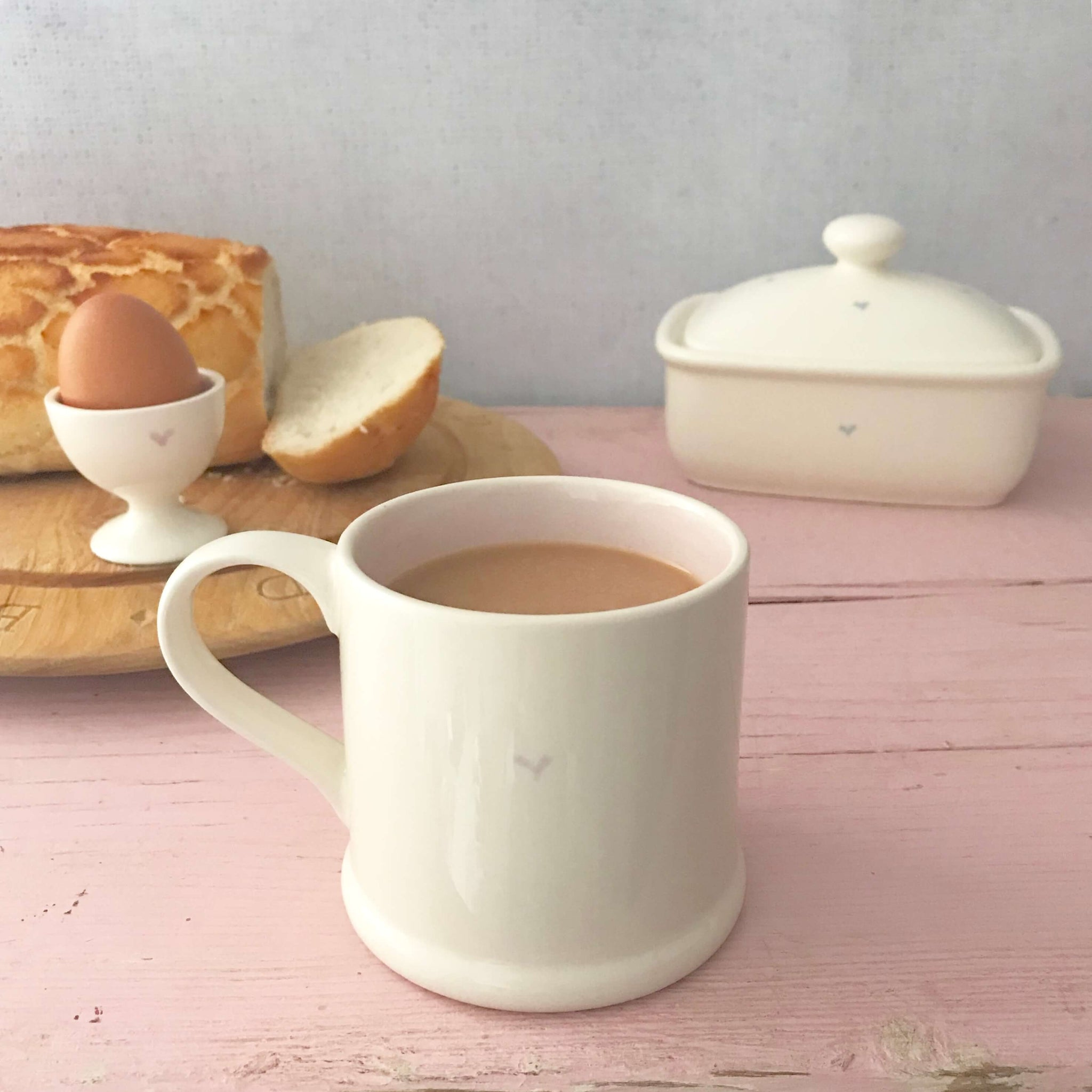 Pastel Heart Mugs - Dales Country Interiors