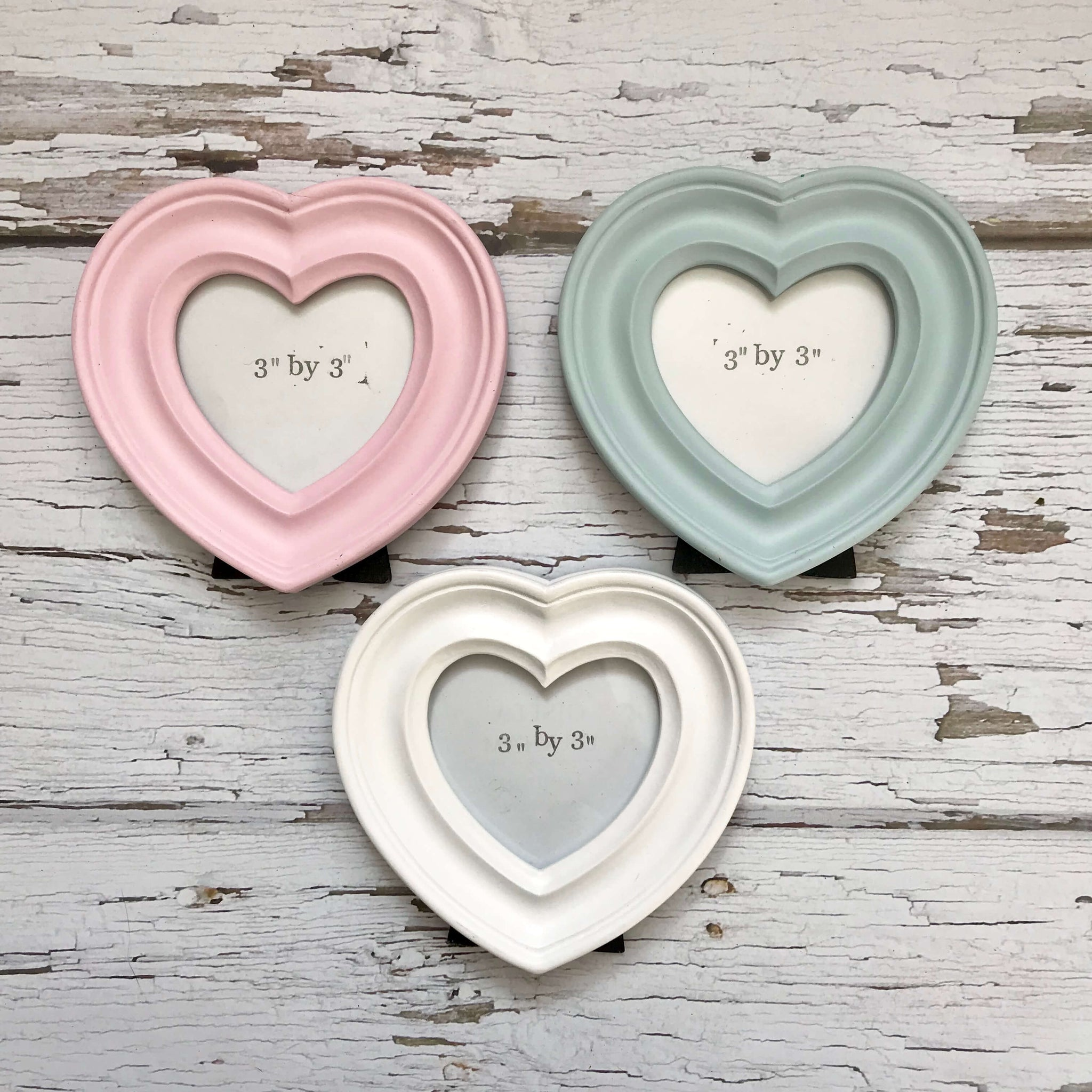 Pastel heart photo frames - Dales Country Interiors