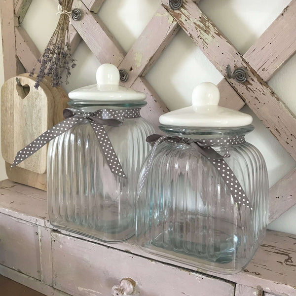 Ribbed Storage Jars - Dales Country Interiors
