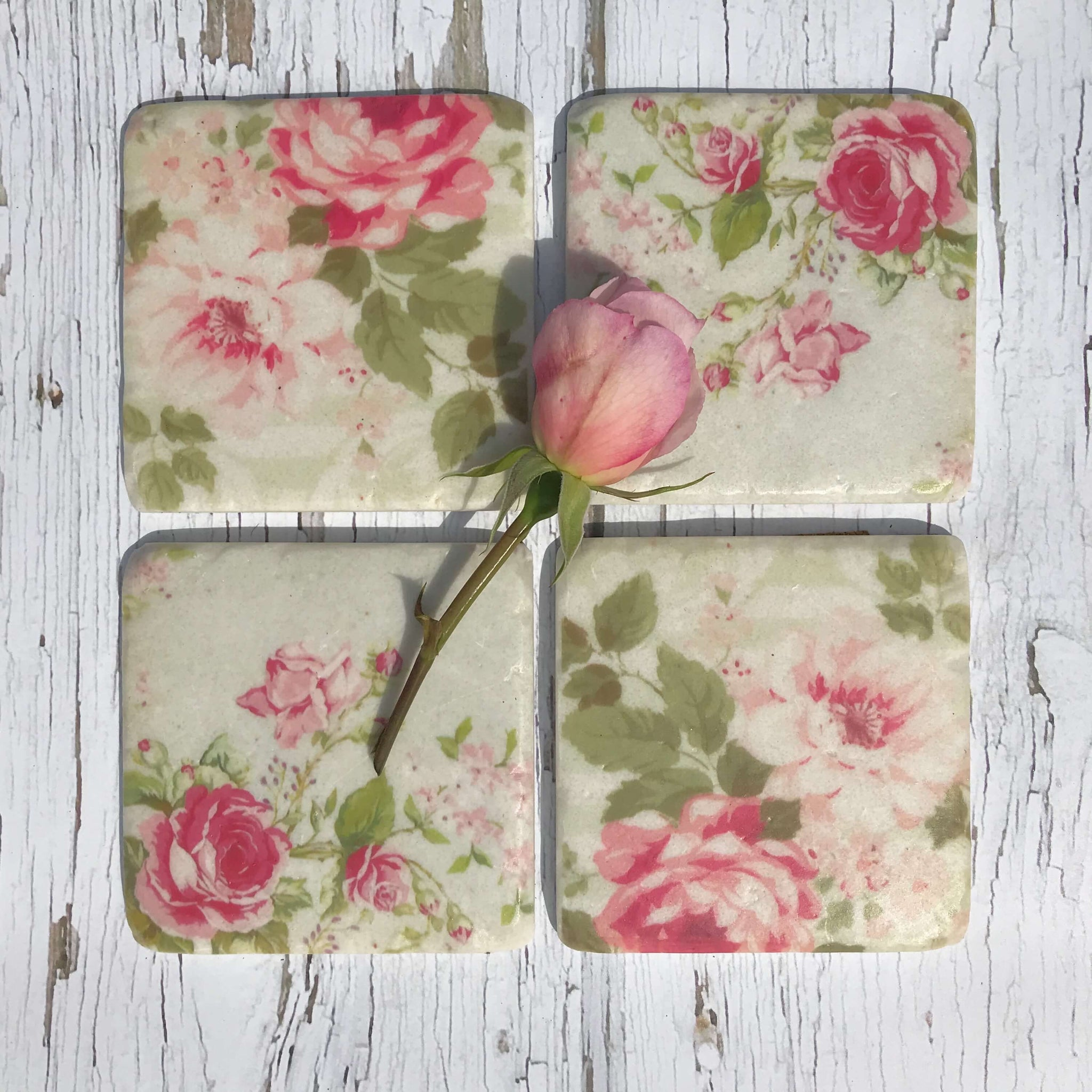 Rose Coasters - Dales Country Interiors