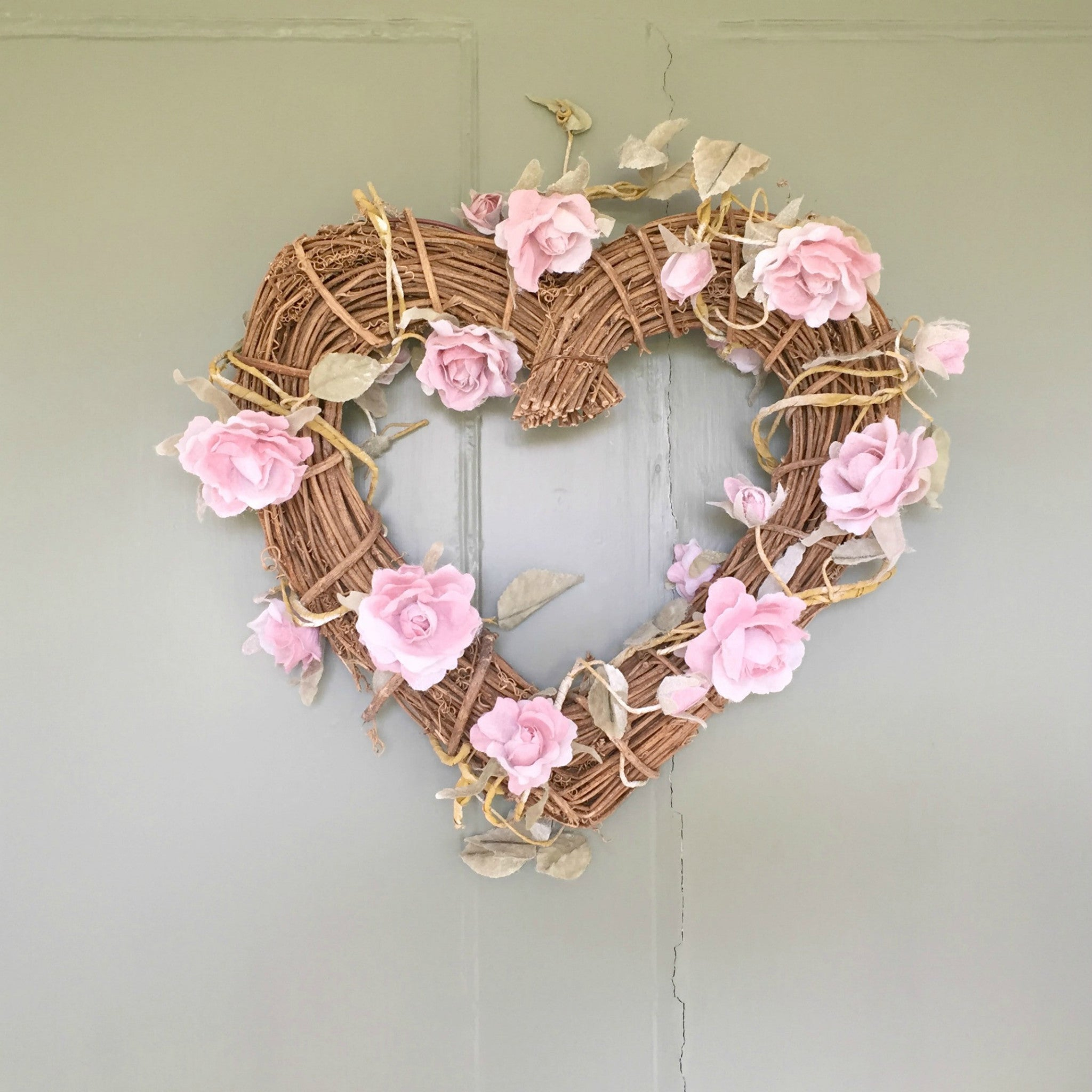 Rose Heart Wreath - Dales Country Interiors