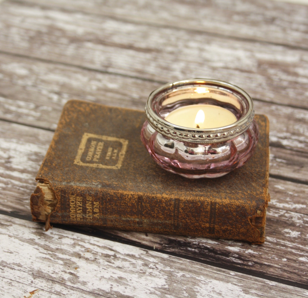 Rose tea light holder - Dales Country Interiors