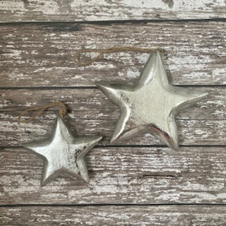 Hanging silver stars