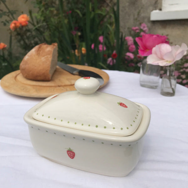 Strawberry Butter Dish - Dales Country Interiors