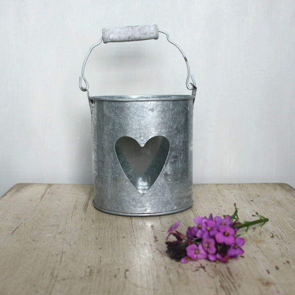 Tin Heart Candle Holder