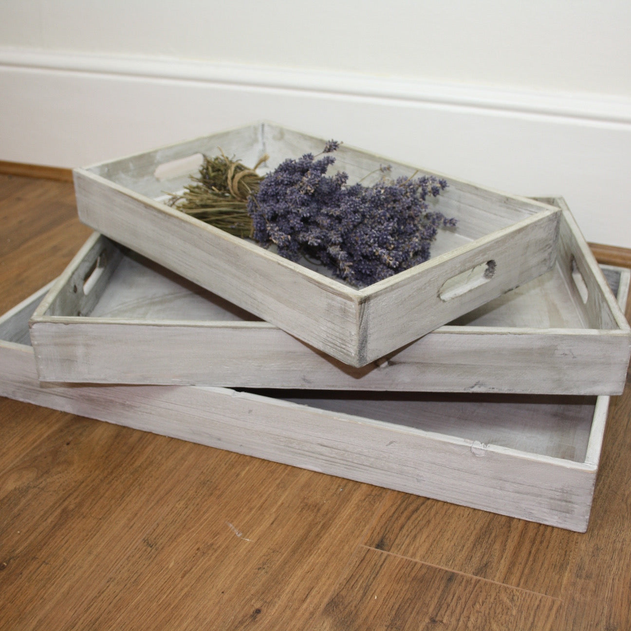 Washed Wood Trays - Dales Country Interiors