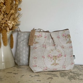 Zipped wash bags by Olive & Daisy