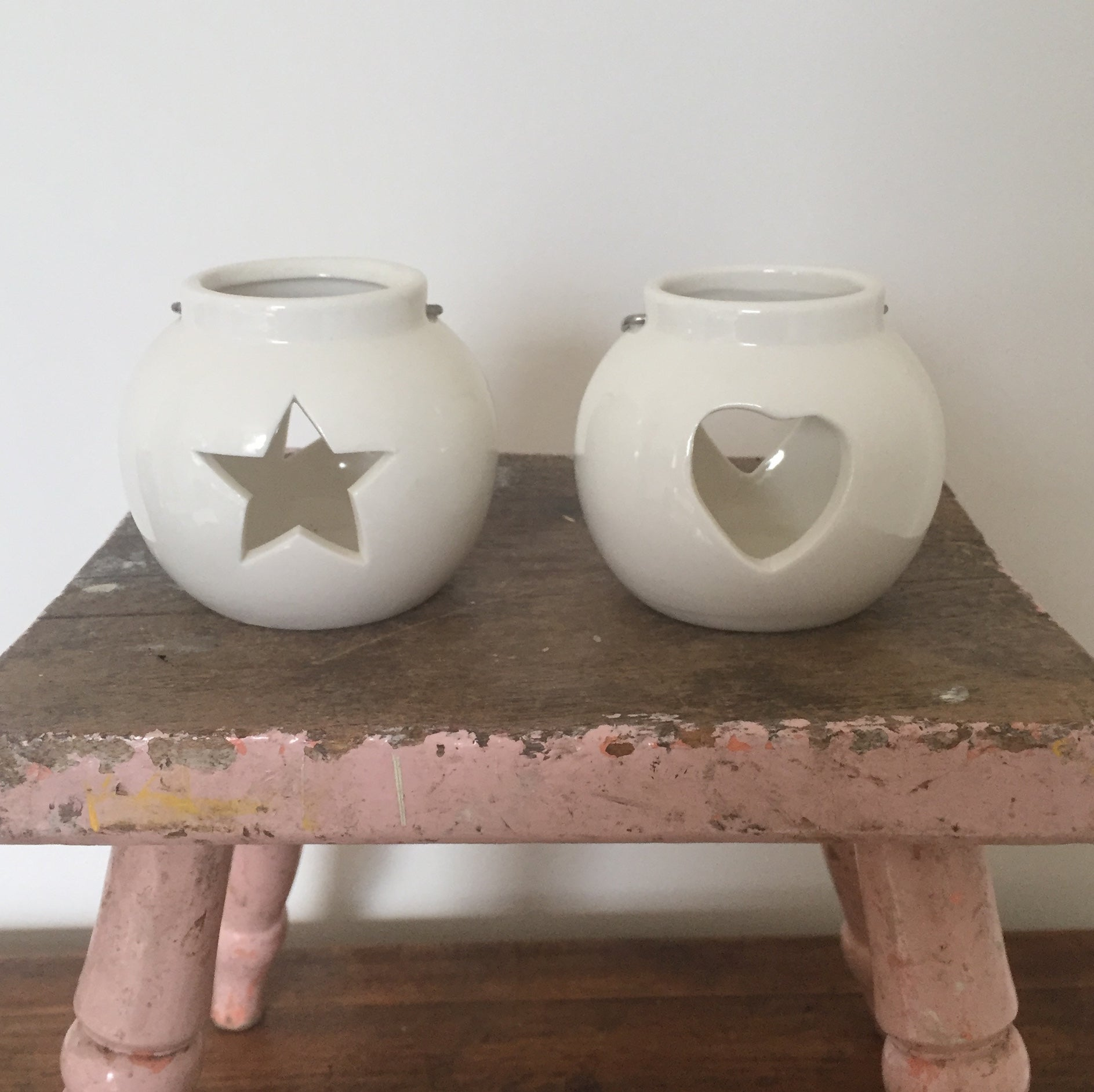 Star & Heart tealight holders