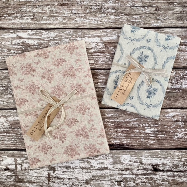 Fabric Covered Notebooks by Olive & Daisy