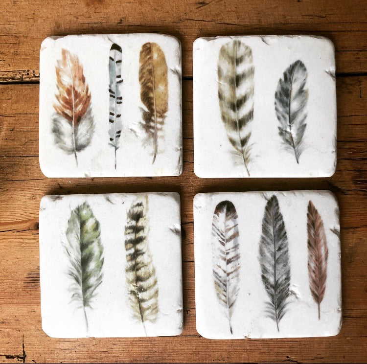 Feathers coasters