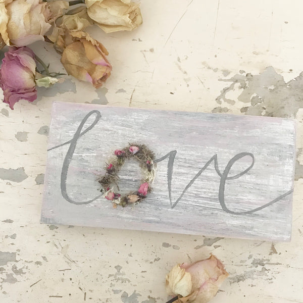 Mini 'love' signs - Dales Country Interiors