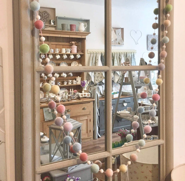 Felt Ball Garlands - Dales Country Interiors