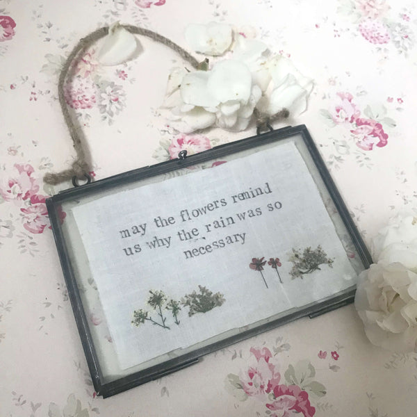 Framed flower quotes - Dales Country Interiors