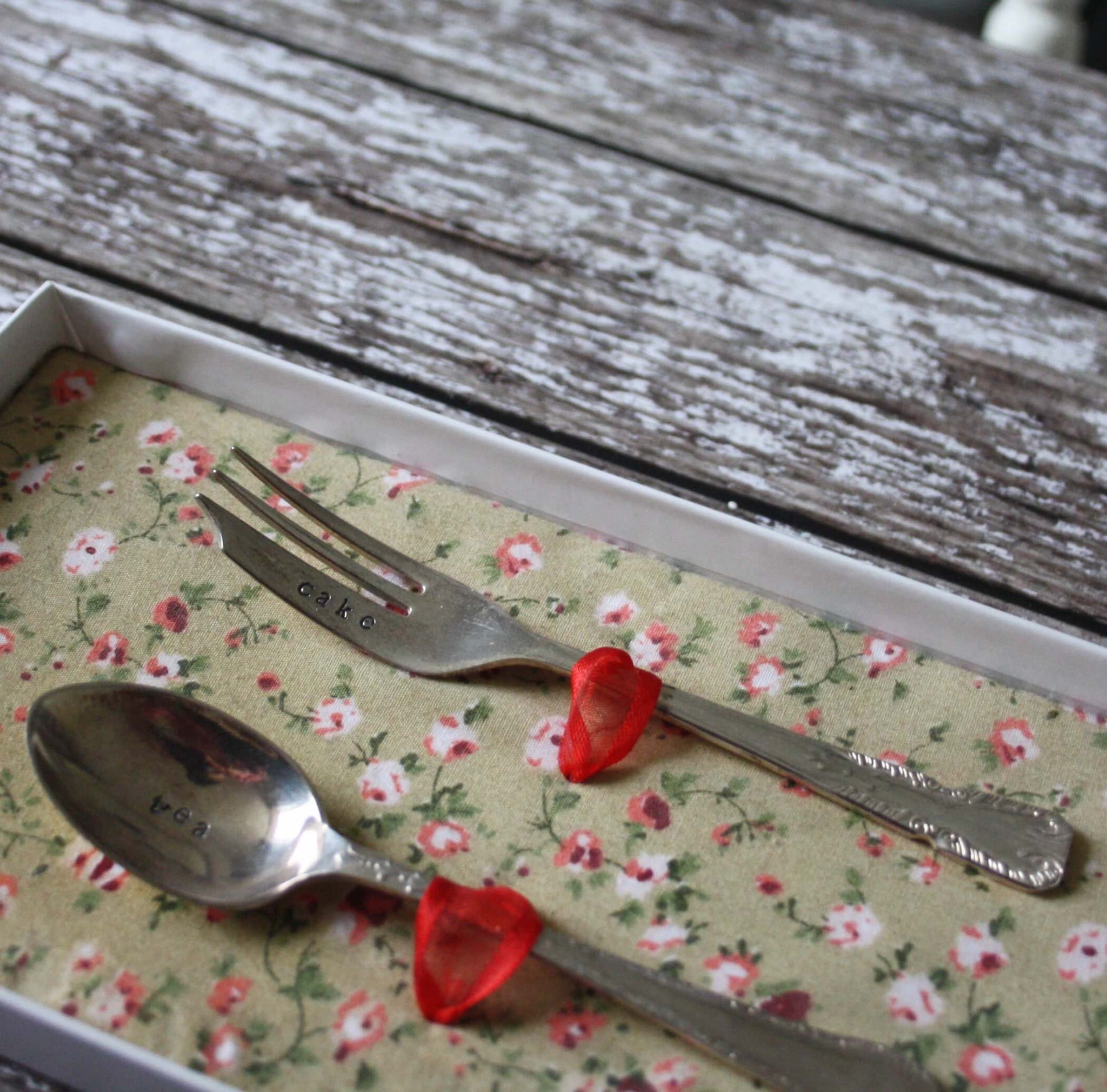 'Tea & Cake' vintage stamped cutlery sets - Dales Country Interiors