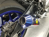 Titanium ElectricK bLUE Yamaha R1 Cat Eliminator Exhaust Valve Type-R