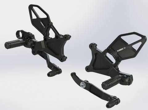 06-20 R6 Vortex Adjustable Rear Set RS634K