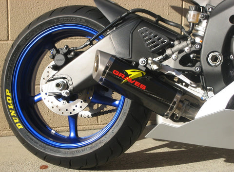 Graves Motorsports Yamaha R6 Cat-Back Slip-on Carbon Exhaust