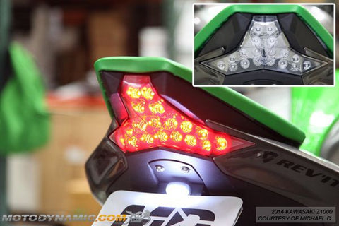 2014-2016 Kawasaki Z1000 2016-2019 Ninja ZX-10R ZX-10RR Sequential LED Tail Light