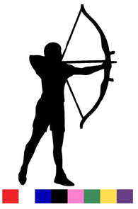 Archery Silhouette Vinyl Decal Sticker