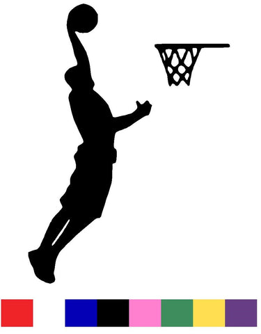 Basketball Silhouette Vinyl Decal Sticker