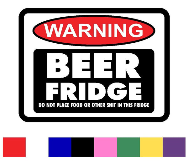 Beer Fridge Decal Vinyl Sticker