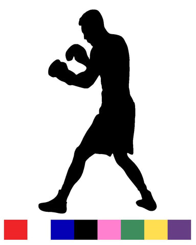 Boxing Silhouette Vinyl Decal Sticker