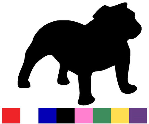 Bulldog Silhouette Decal Vinyl Sticker