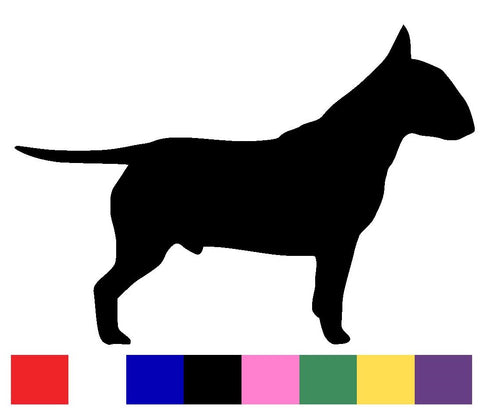 Bull Terrier Silhouette Decal Vinyl Sticker