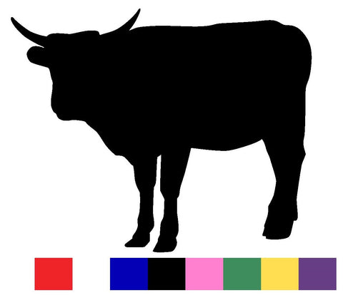 Bull Silhouette Decal Vinyl Sticker